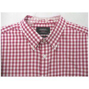 Charles Tyrwhitt Red Check Classic Fit Shirt  XXL